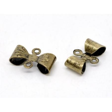 Acheter 1 noeud connecteur métal - couleur bronze - 0,29€ en ligne sur La Petite Epicerie - Loisirs créatifs