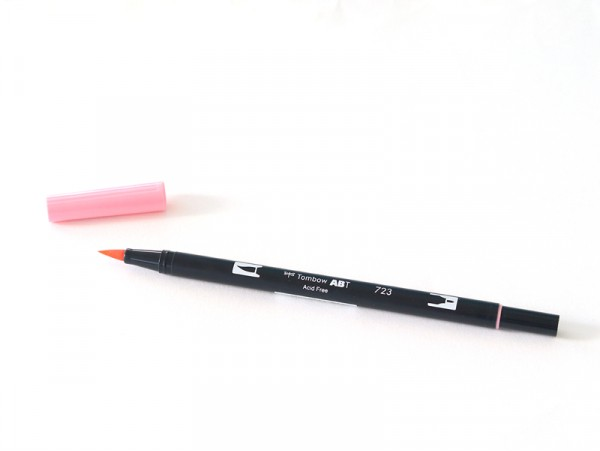 Feutre double pointe Tombow ABT - rose clair Tombow - 1