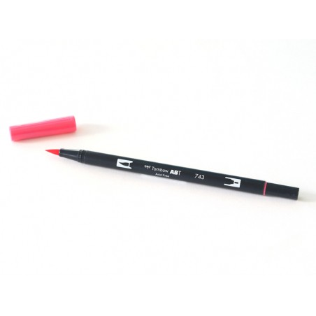 Acheter Feutre double pointe Tombow ABT - rose bonbon 743 - 3,39€ en ligne sur La Petite Epicerie - Loisirs créatifs