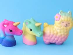 Acheter Squishy lama / Alpaga multicolore pastel - 19,99€ en ligne sur La Petite Epicerie - Loisirs créatifs