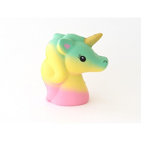 Squishy grande tête de licorne - pastel  - 1
