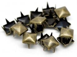 10 Nieten - bronzefarben