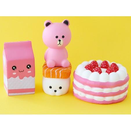 Acheter Squishy charlotte aux fraises - rose - anti stress - 12,99€ en ligne sur La Petite Epicerie - Loisirs créatifs
