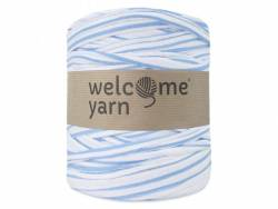 Grande bobine de fil trapilho - rayures bleues Welcome Yarn - 1