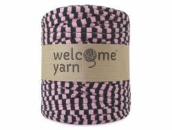 Grande bobine de fil trapilho - rayures noires et roses Welcome Yarn - 1