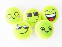 Squishy emoji vert - visage aléatoire - anti stress  - 1