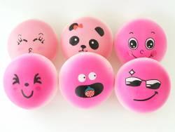 Squishy emoji rose - visage aléatoire - anti stress  - 1