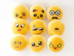 Squishy emoji orange - visage aléatoire - anti stress  - 1