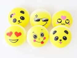 Squishy emoji jaune - visage aléatoire - anti stress  - 1