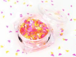 Acheter Petit pot de paillettes en forme de losange - trio de couleurs orange, rose et blanc - 1,99€ en ligne sur La Petite ...