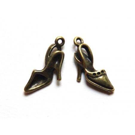 1 stiletto charm - bronze-coloured