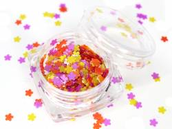 Acheter Paillettes en forme de fleurs - jaune, blanc, orange et violet - 1,99€ en ligne sur La Petite Epicerie - Loisirs cré...