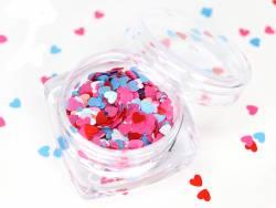 Acheter Paillettes quadricolores en forme de cœur - rose, bleu, blanc et rouge - 1,99€ en ligne sur La Petite Epicerie - Loi...