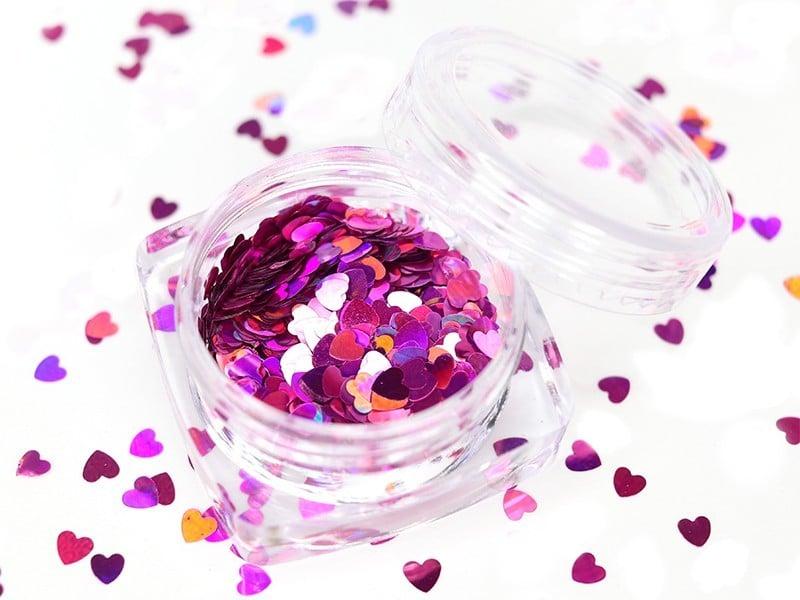 Acheter Paillettes en forme de cœur - rose - 1,99€ en ligne sur La Petite Epicerie - Loisirs créatifs