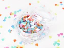 Paillettes en forme de cœur - multicolore  - 1
