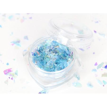 Acheter Petit pot de paillettes holographiques et irrégulières - bleu - 1,99€ en ligne sur La Petite Epicerie - Loisirs créa...