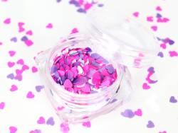 Acheter Trio de paillettes en forme de cœur - rose, violet et blanc - 1,99€ en ligne sur La Petite Epicerie - Loisirs créatifs