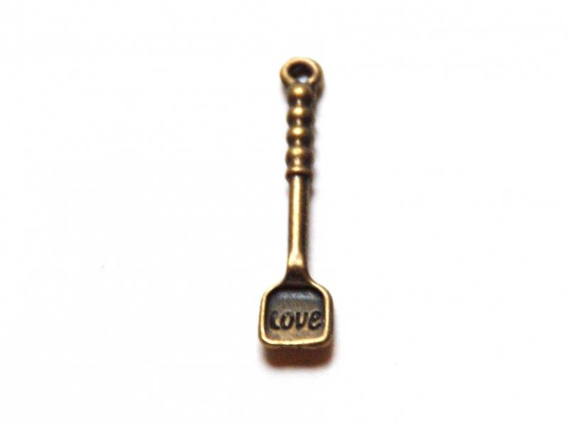 Acheter 1 Breloque pelle à tarte - couleur bronze - 0,69€ en ligne sur La Petite Epicerie - Loisirs créatifs