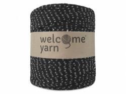 Grande bobine de fil trapilho - noir à petits motifs blancs Welcome Yarn - 1