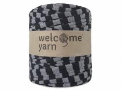 Grande bobine de fil trapilho - noir rayé de gris Welcome Yarn - 1