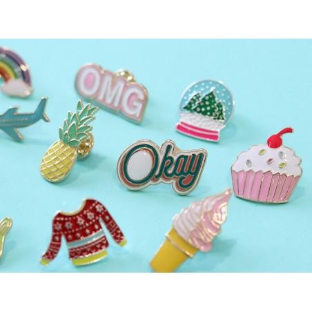 Acheter Broche pin's émaillé glace à l'italienne - 4,99€ en ligne sur La Petite Epicerie - 100% Loisirs créatifs