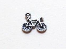 1 Breloque bicyclette vélo / argentée