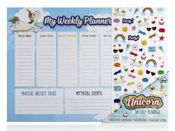 Set de bureau licorne- Planificateur hebdomadaire avec stickers NPW - 2