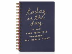 "Carnet ""Today is the day"", format A5 à spirales NPW - 1"
