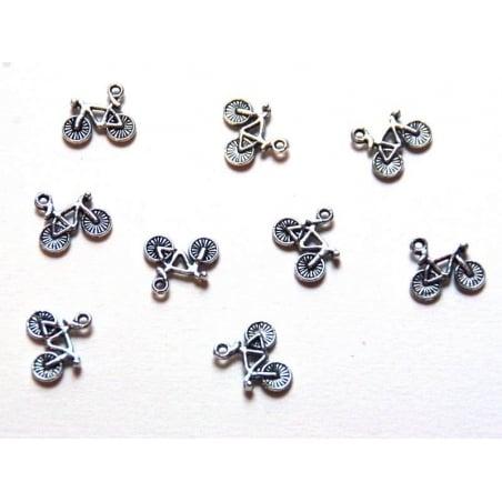 Acheter 1 Breloque bicyclette vélo / argentée - 0,49€ en ligne sur La Petite Epicerie - Loisirs créatifs