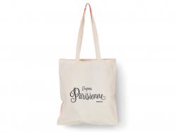 "Tote bag ""Super Parisienne"" Bubble Gum - 1"