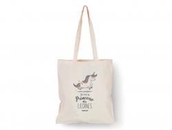 """Acheter Tote bag licorne """"Je suis la princesse des licornes"""" - 9,99€ en ligne sur La Petite Epicerie - Loisirs créatifs"""