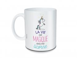 Mug licorne à message - La...