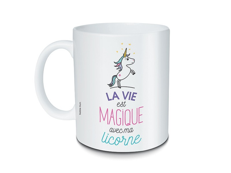 Acheter Mug licorne à message - La vie est magique - 7,99€ en ligne sur La Petite Epicerie - 100% Loisirs créatifs