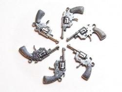 Acheter 1 Breloque pistolet de cowboy - argentée - 1,49€ en ligne sur La Petite Epicerie - Loisirs créatifs