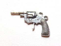 1 Cowboypistolenanhänger - silberfarben