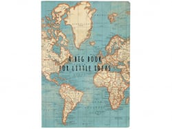 Carnet - Vintage map Sass&Belle - 1