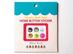 iPhone button stickers - Snow White