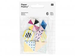 6 gommes géométriques Rico Design - 1