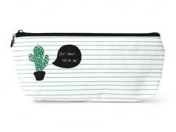 Trousse rayée avec cactus - Stay away from me  - 1