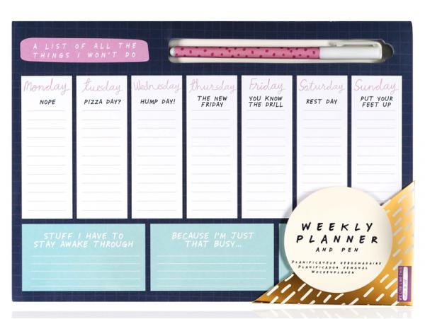 Set de bureau - Planificateur hebdomadaire et crayon NPW - 1
