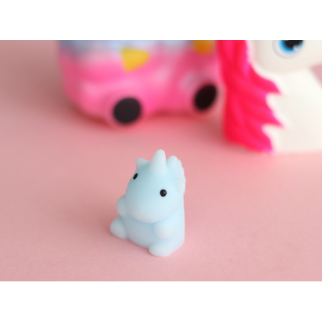 Mini squishy Licorne bleue - anti stress  - 2