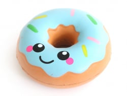 Squishy donut bleu kawaii