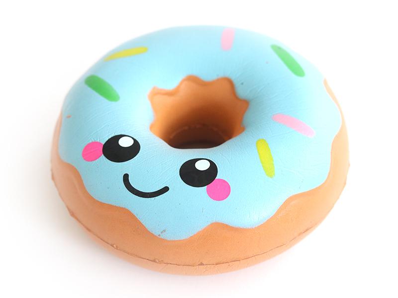 Coloriage Gourmandise Kawaii.Acheter Squishy Donut Bleu Kawaii En Ligne