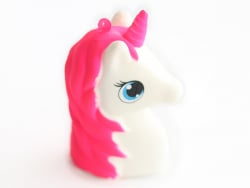 Squishy licorne rose fluo