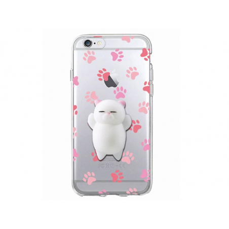 Coque Iphone 6 / 6S - Squishy chat blanc  - 1