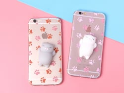 Coque Iphone 7 / 8 - Squishy chat blanc  - 2