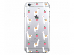 Coque Iphone 7 / 8 - Lamas et Cactus  - 1