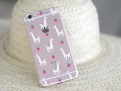 Coque Iphone 7 / 8 - Lamas et Cactus  - 2