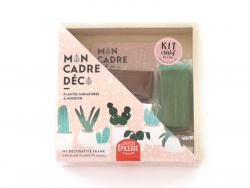 Kit créatif - Mon cadre déco, plantes miniatures à modeler La petite épicerie - 1