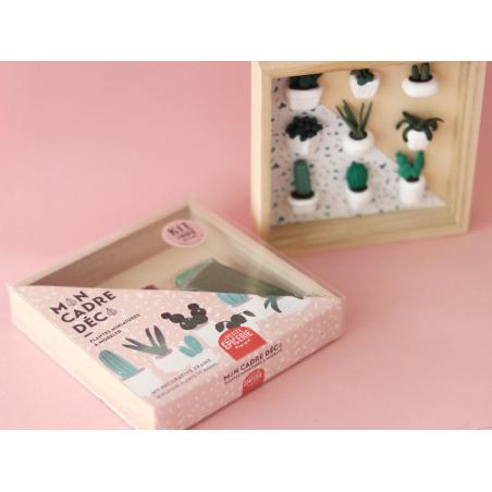 Acheter Kit créatif - Mon cadre déco, plantes miniatures à modeler - 19,99€ en ligne sur La Petite Epicerie - 100% Loisirs c...